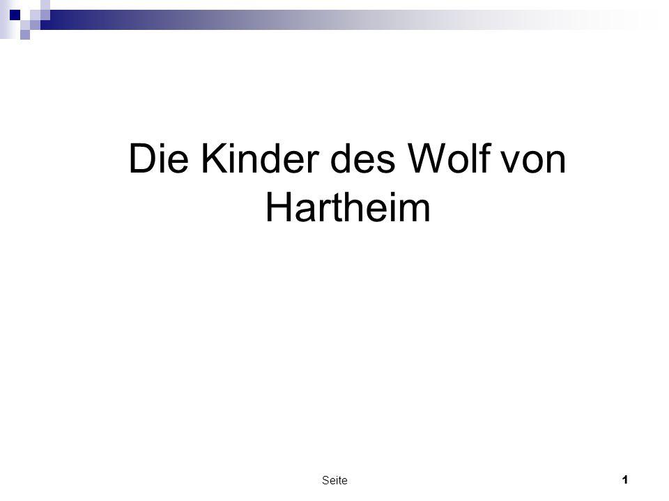 Seite1 Die Kinder des Wolf von Hartheim