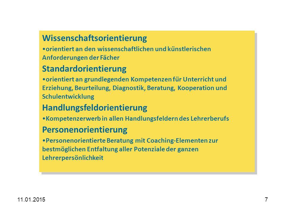 11.01.20158 Grundgedanken Kern des Referendariats sind diejenigen Ausbildungselemente, die reflexionsbezogene Handlungskompetenzen fördern.