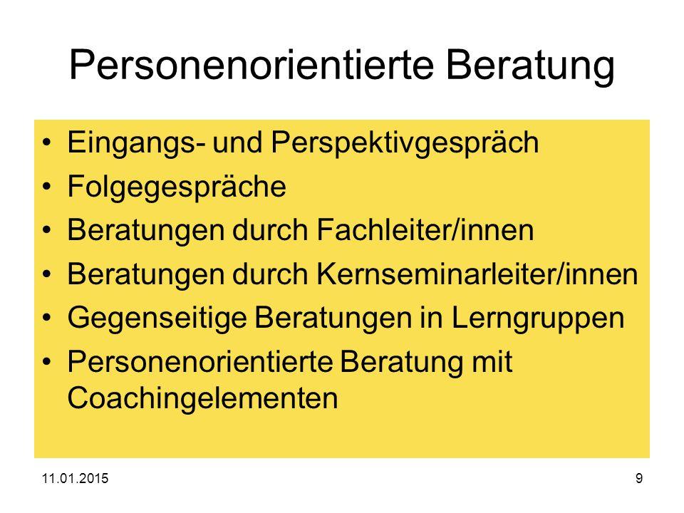 11.01.201520 3.… die eigene Eignung erproben Die Staatsprüfung Ein Kolloquium 45 Min.