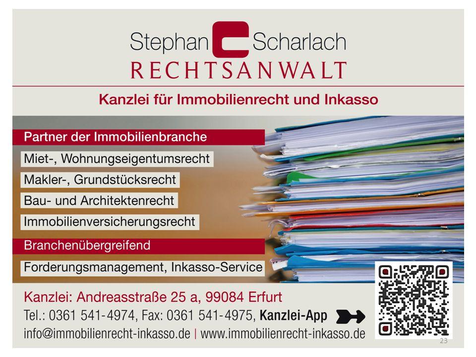 © Rechtsanwalt Stephan Scharlach Andreasstraße 25 a, 99084 Erfurt 23