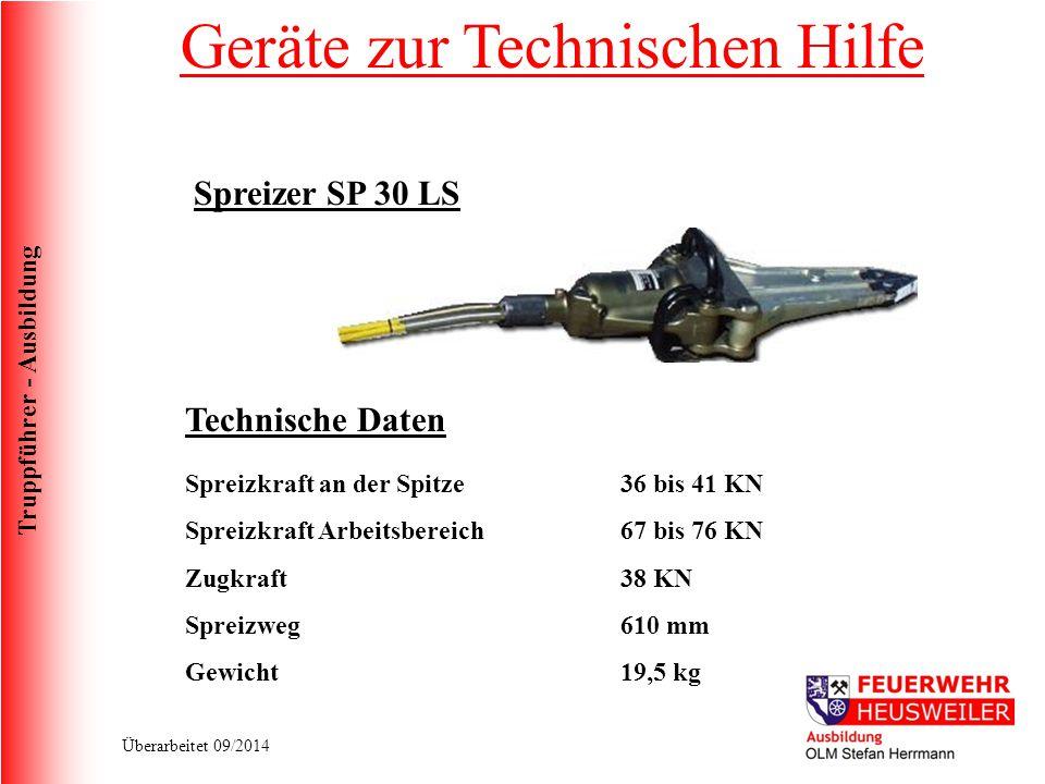 Truppführer - Ausbildung Überarbeitet 09/2014 Auch bei ausgelöster Sicherheitsbatterieklemme muss die Batterie abgeklemmt werden.