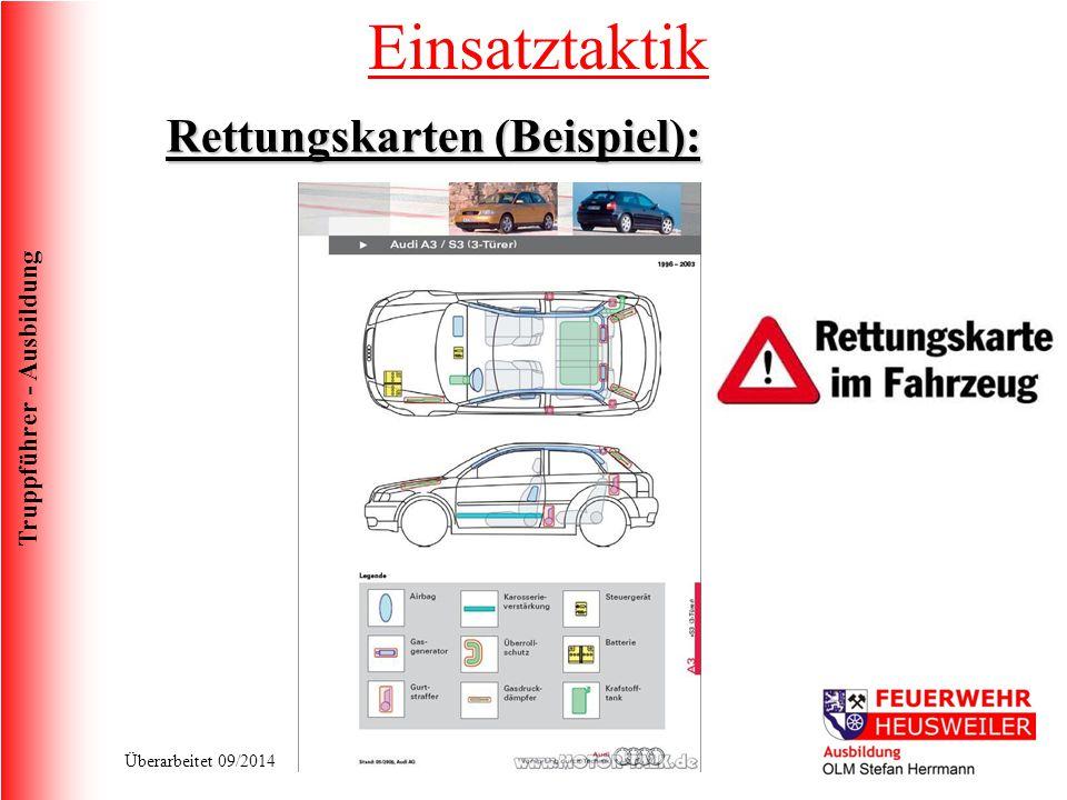 Truppführer - Ausbildung Überarbeitet 09/2014 Einsatztaktik Rettungskarten (Beispiel):