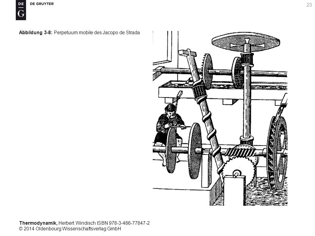 Thermodynamik, Herbert Windisch ISBN 978-3-486-77847-2 © 2014 Oldenbourg Wissenschaftsverlag GmbH 23 Abbildung 3-8: Perpetuum mobile des Jacopo de Strada