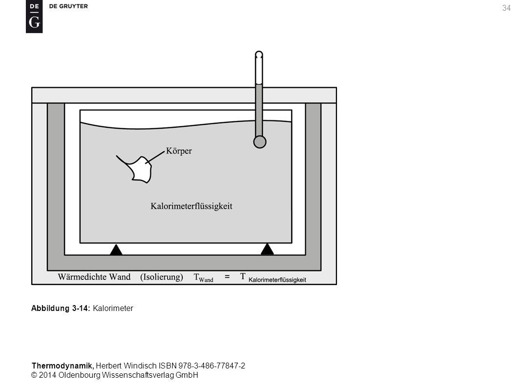 Thermodynamik, Herbert Windisch ISBN 978-3-486-77847-2 © 2014 Oldenbourg Wissenschaftsverlag GmbH 34 Abbildung 3-14: Kalorimeter