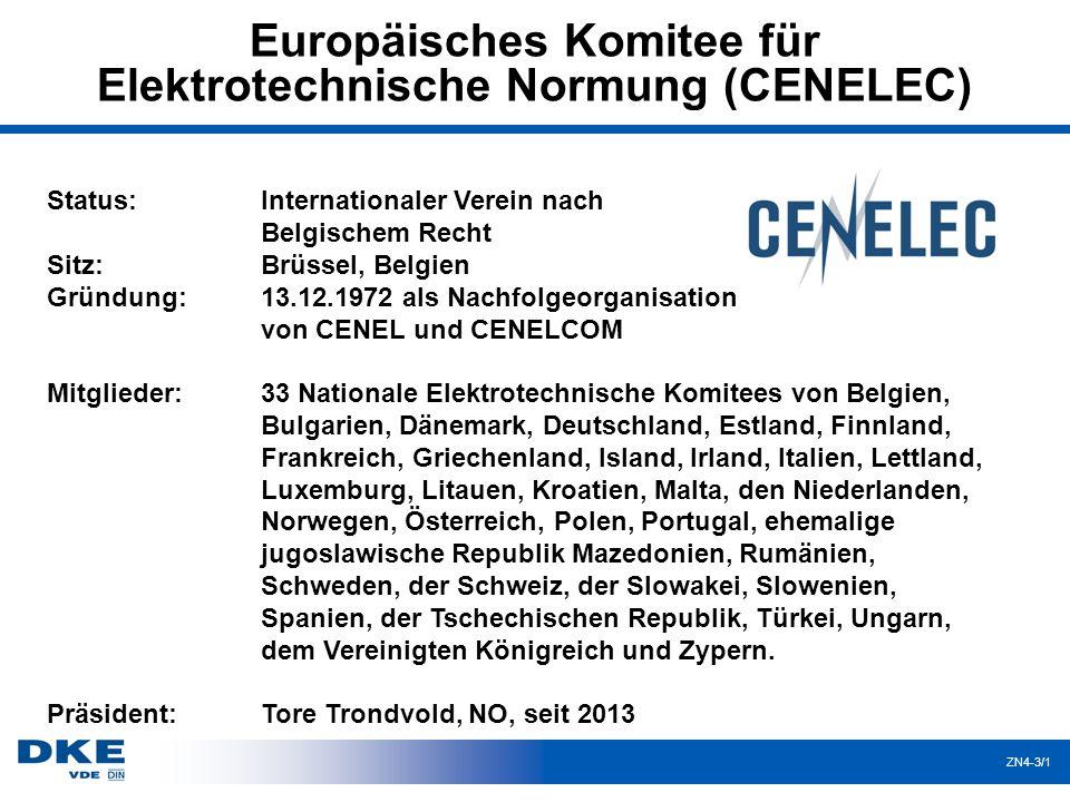 """ZN4-3/22 Entstehung einer Europäischen Norm bei Erarbeitung auf europäischer Ebene durch CEN/CENELEC Erarbeitung """"Entwurf prEN Kommentierung """"Entwurf prEN durch CEN bzw."""
