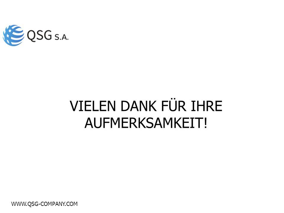 WWW.QSG-COMPANY.COM VIELEN DANK FÜR IHRE AUFMERKSAMKEIT!