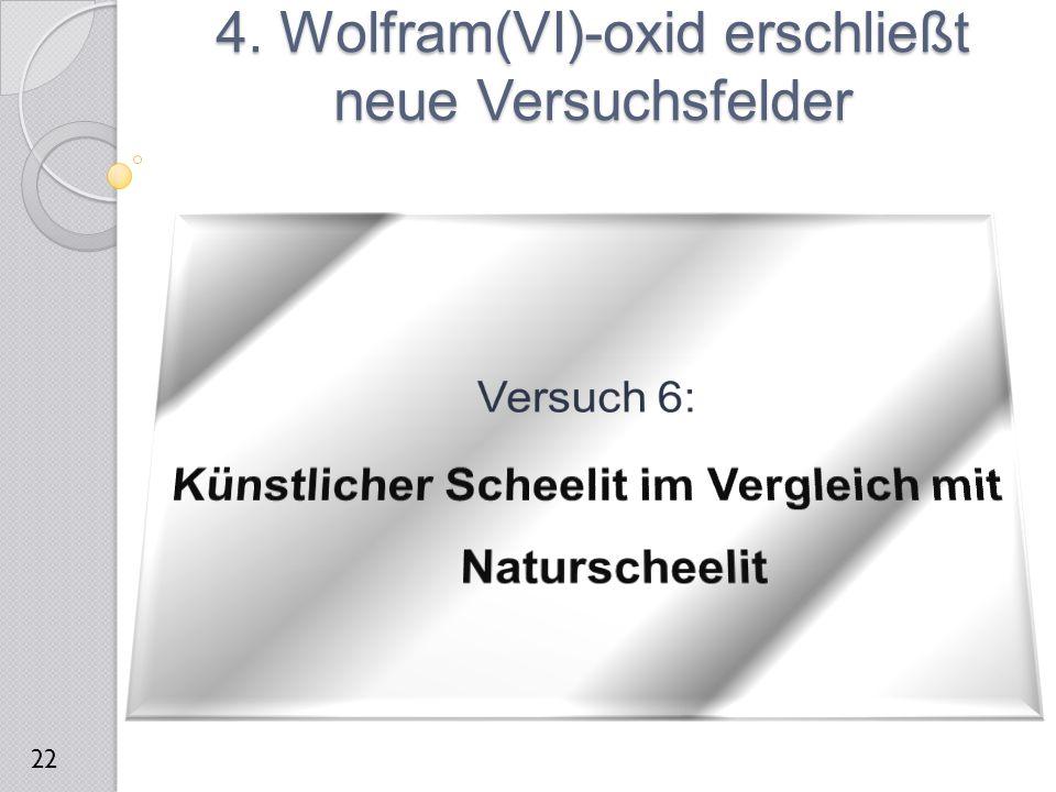 4. Wolfram(VI)-oxid erschließt neue Versuchsfelder 22