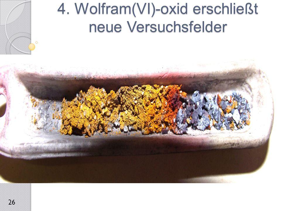 4. Wolfram(VI)-oxid erschließt neue Versuchsfelder 26