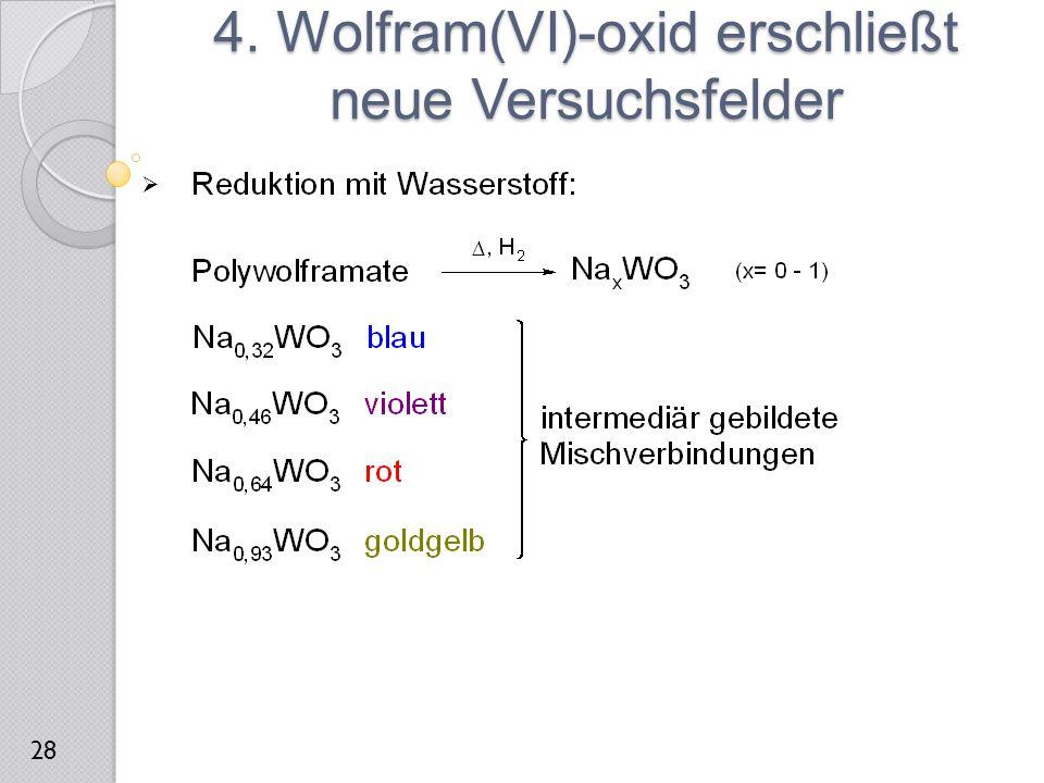  4. Wolfram(VI)-oxid erschließt neue Versuchsfelder 28