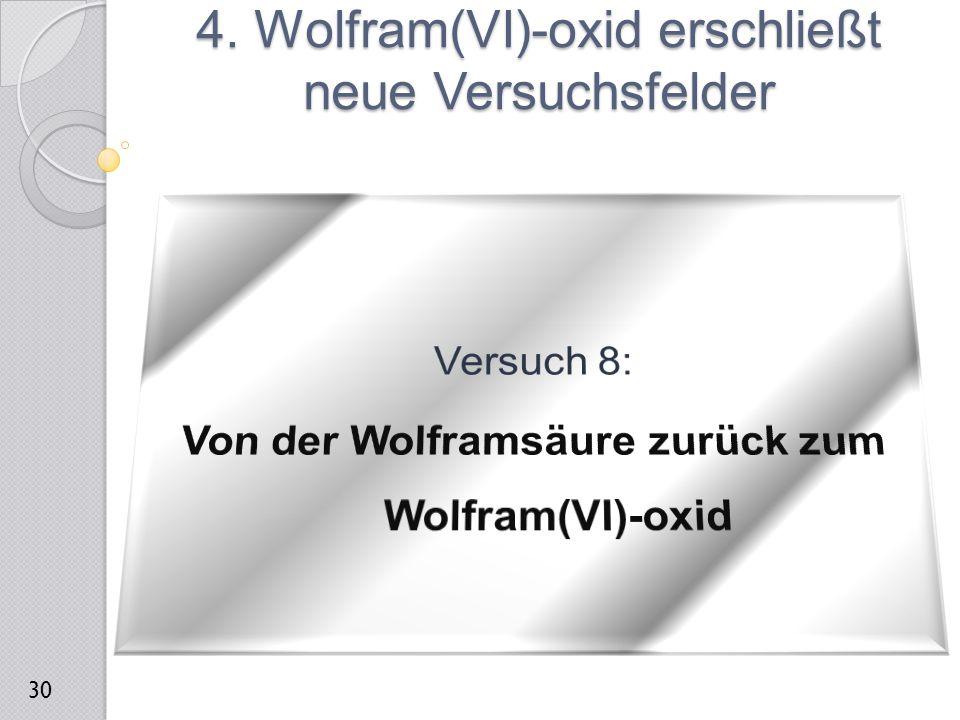4. Wolfram(VI)-oxid erschließt neue Versuchsfelder 30