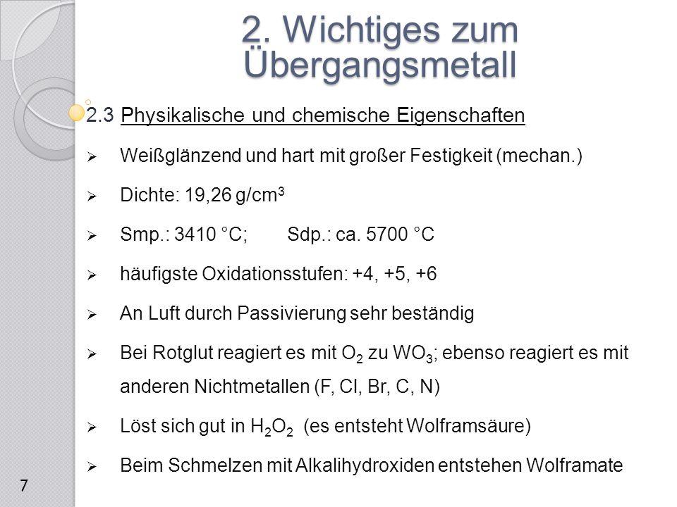 3. Versuche ausgehend vom elementaren Wolfram 8