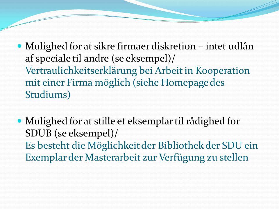 Services Syddansk Universitetsbibliotek/ Bibliothek der SDU * bl.a.