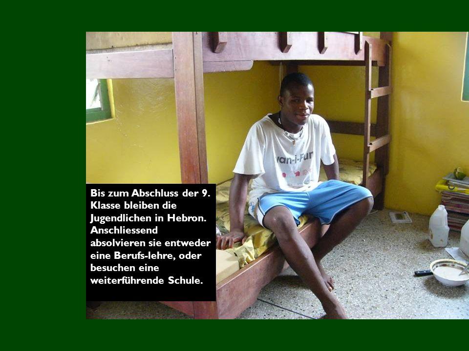 Bis zum Abschluss der 9.Klasse bleiben die Jugendlichen in Hebron.