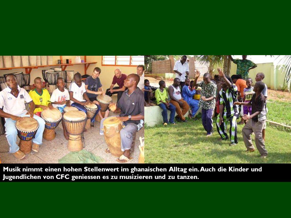Musik nimmt einen hohen Stellenwert im ghanaischen Alltag ein.