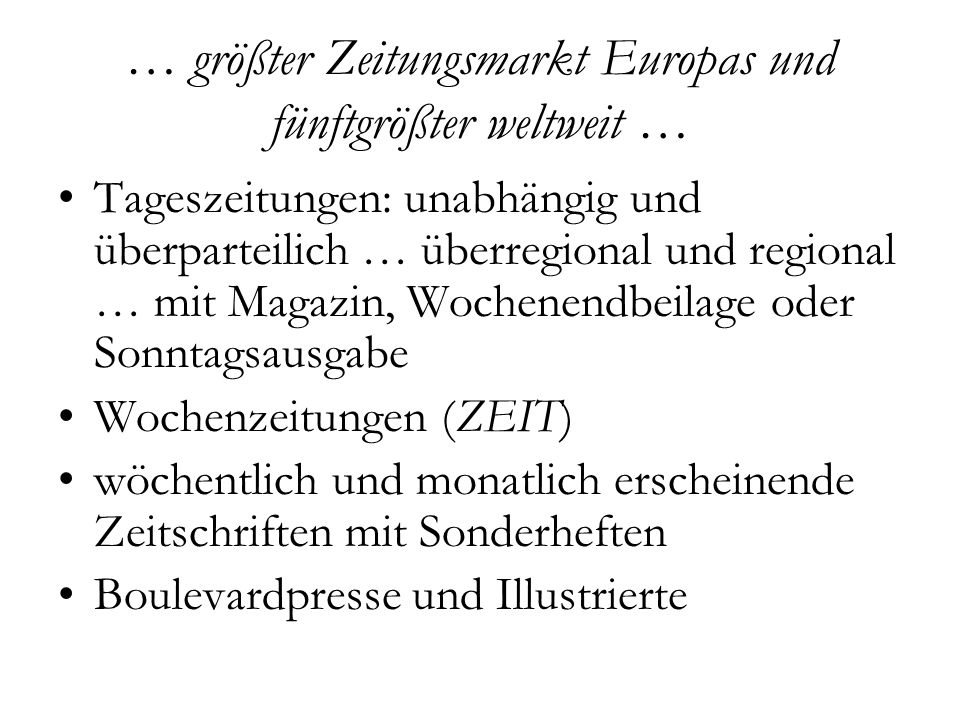 … doch meistgelesene und auflagenstärkste Tageszeitung Deutschlands seit 1952 2.444.783/2.31 Mio.