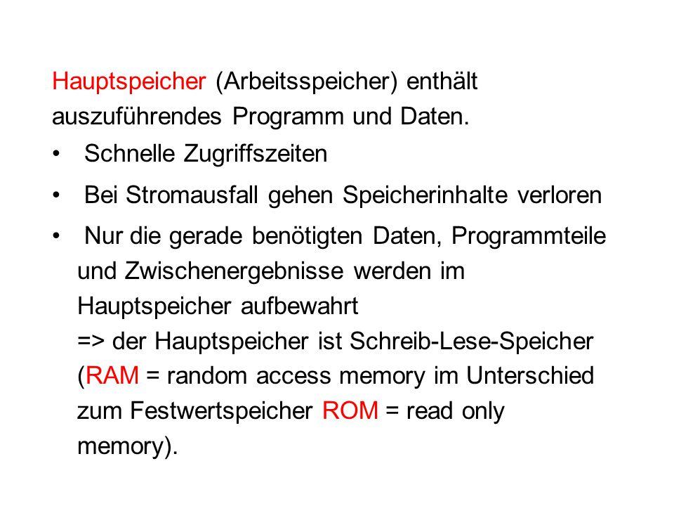 Erstellung von Programmen (Programmierung) Erfolgt mit Hilfe von Programmiersprachen die jeden Schritt des Algorithmus in eine Anweisung (Instruktion) umsetzen