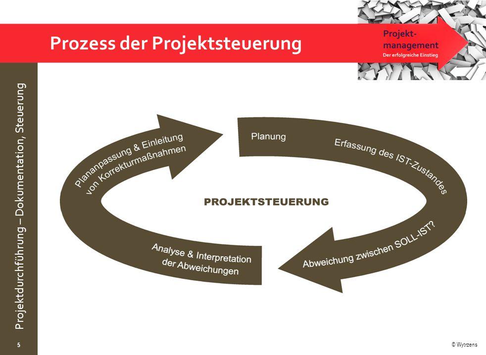 © Wytrzens Projektdurchführung – Dokumentation, Steuerung Prozess der Projektsteuerung 5