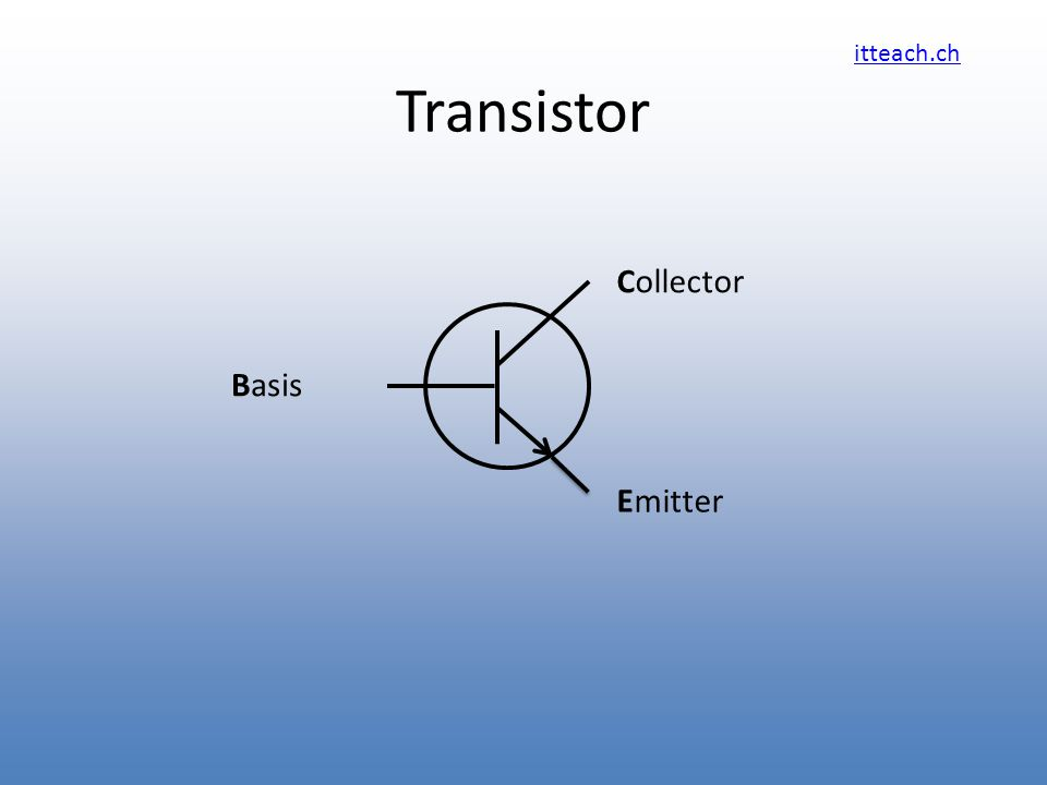 itteach.ch Transistor Emitter Collector Basis