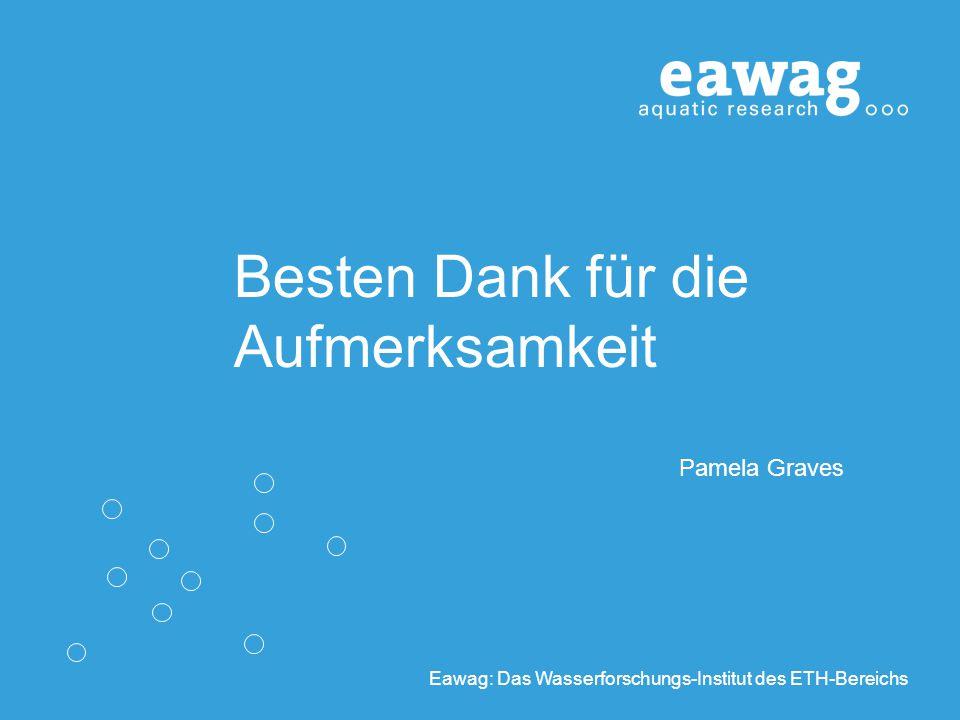 Eawag: Das Wasserforschungs-Institut des ETH-Bereichs Besten Dank für die Aufmerksamkeit Pamela Graves