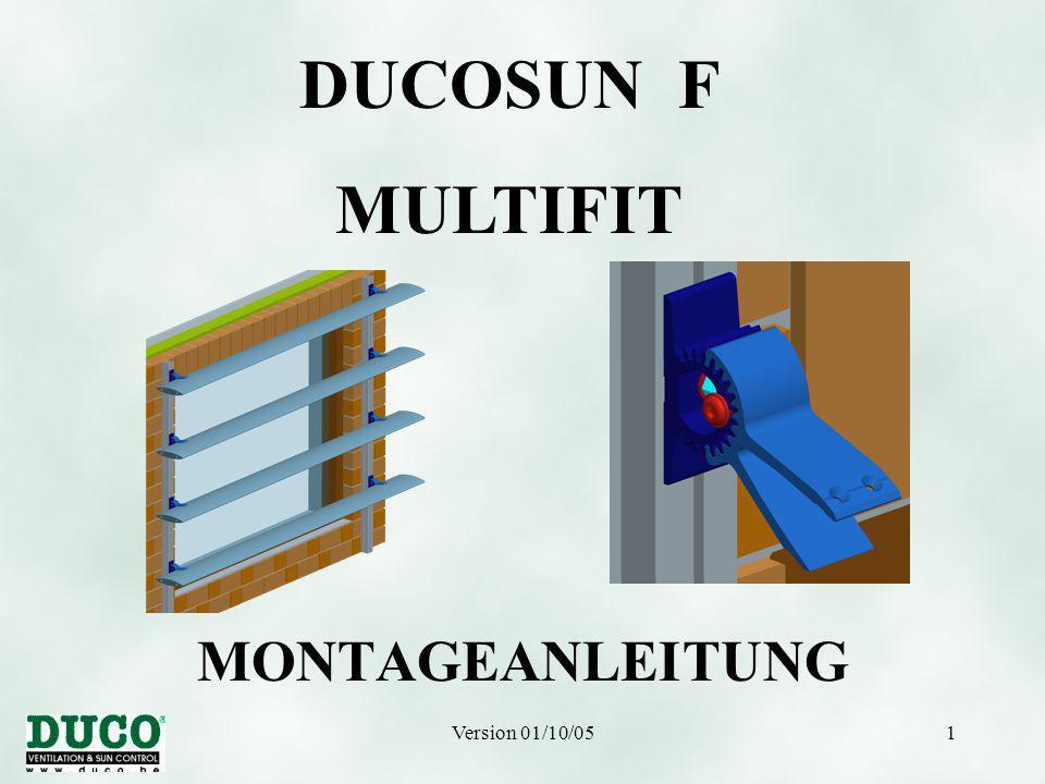 Version 01/10/051 MONTAGEANLEITUNG DUCOSUN F MULTIFIT