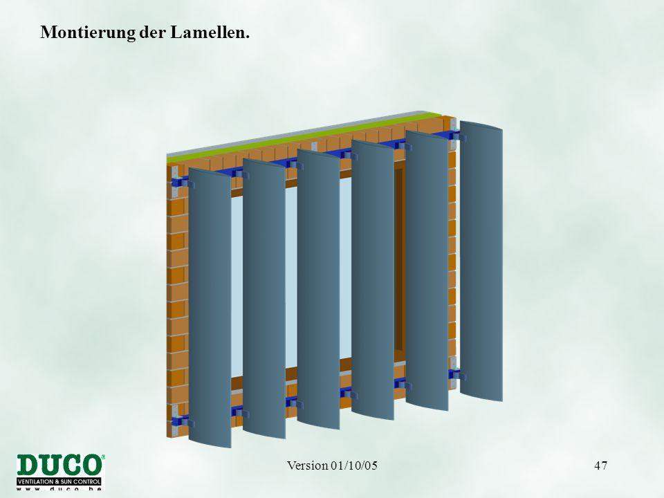 Version 01/10/0547 Montierung der Lamellen.