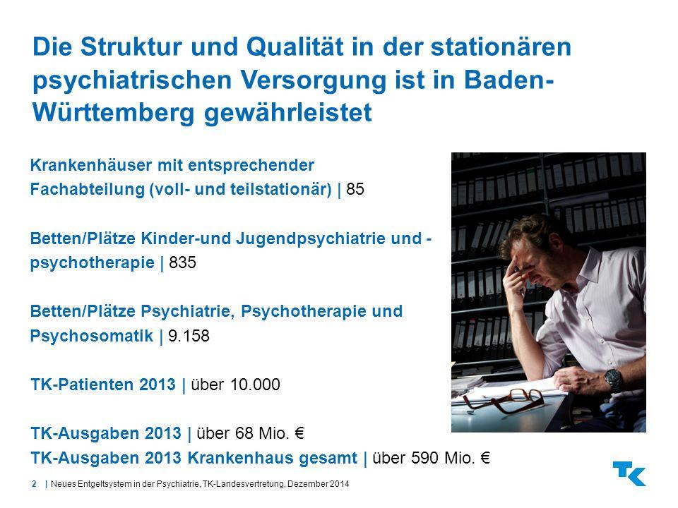 2| Die Struktur und Qualität in der stationären psychiatrischen Versorgung ist in Baden- Württemberg gewährleistet Neues Entgeltsystem in der Psychiat