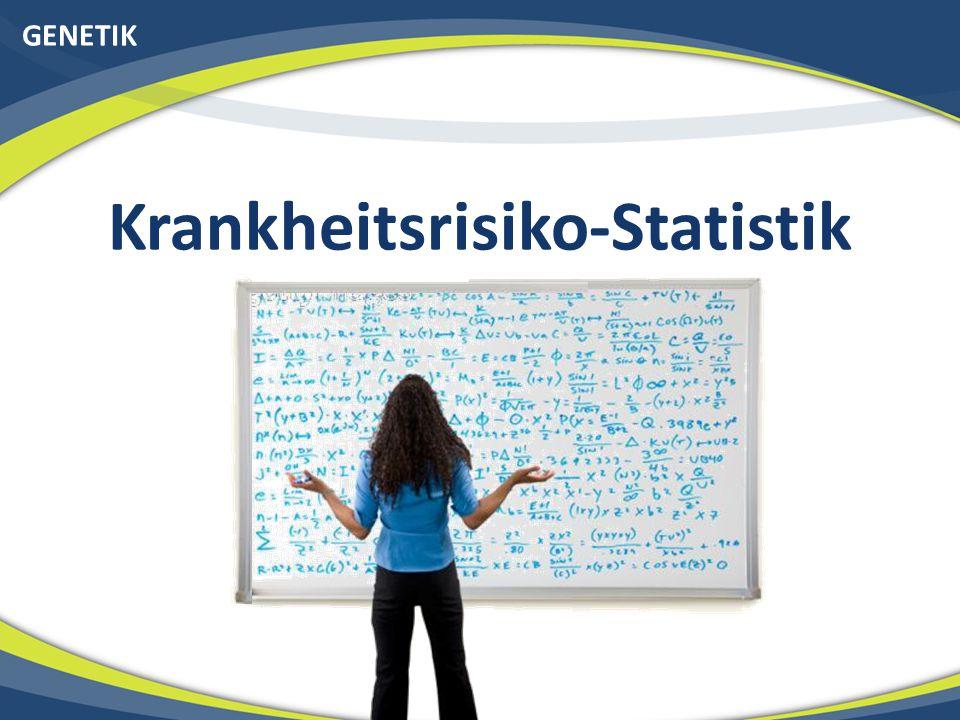 GENETIK Krankheitsrisiko-Statistik