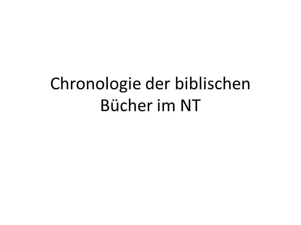 Chronologie der biblischen Bücher im NT