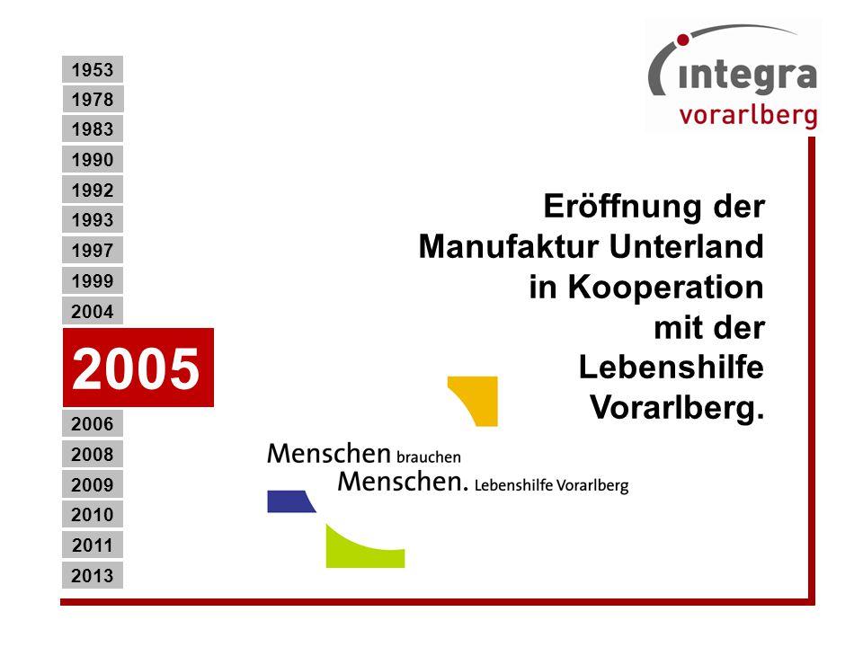 Eröffnung der Manufaktur Unterland in Kooperation mit der Lebenshilfe Vorarlberg.