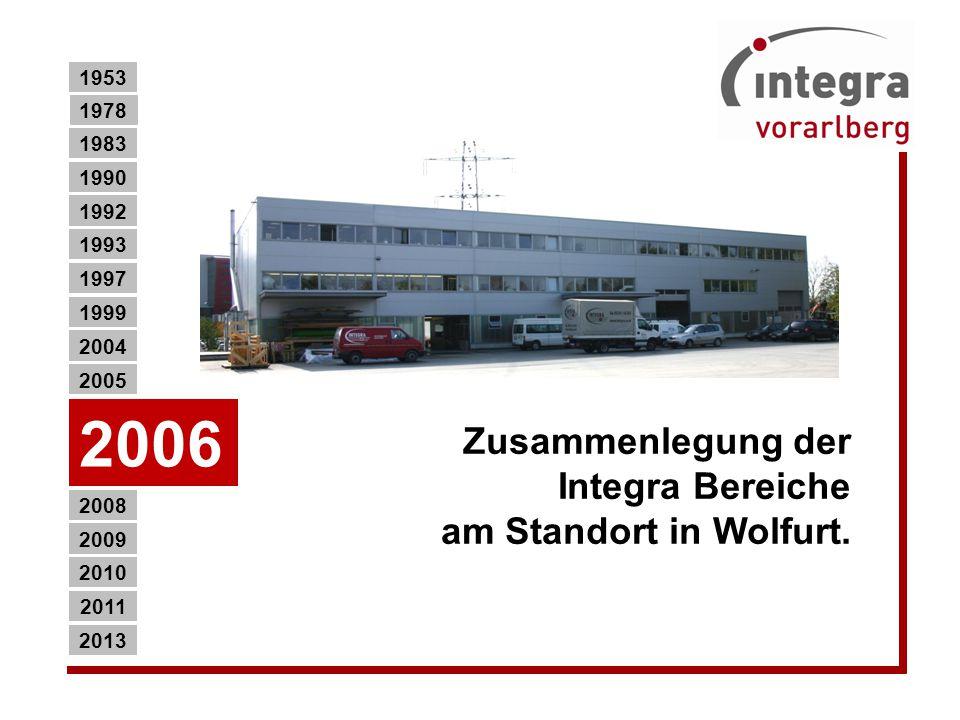 Zusammenlegung der Integra Bereiche am Standort in Wolfurt.