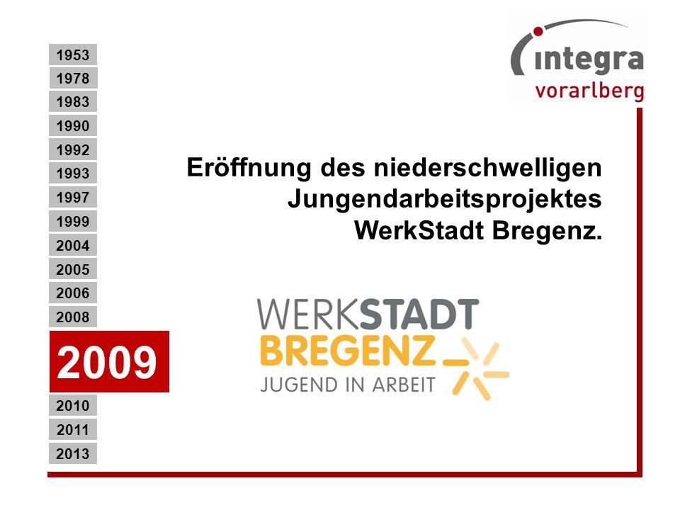 Eröffnung des niederschwelligen Jungendarbeitsprojektes WerkStadt Bregenz.