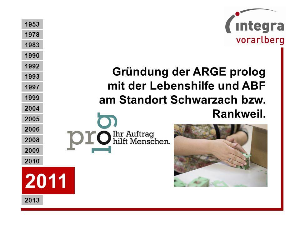 Gründung der ARGE prolog mit der Lebenshilfe und ABF am Standort Schwarzach bzw.