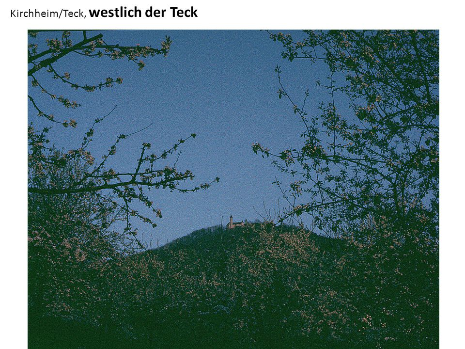 Kirchheim/Teck, westlich der Teck