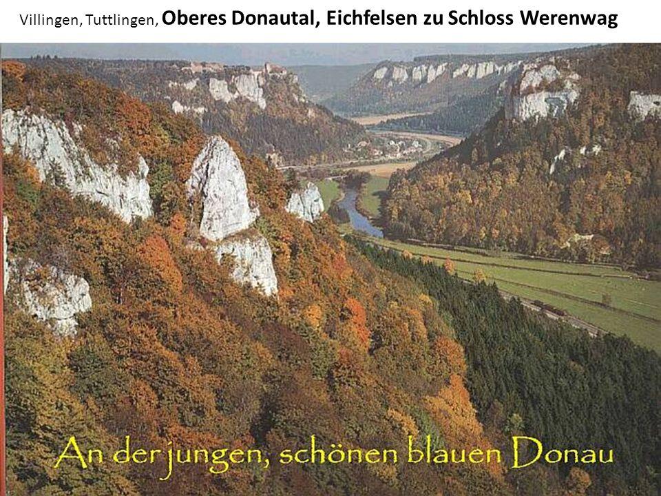 Villingen, Tuttlingen, Oberes Donautal, Eichfelsen zu Schloss Werenwag