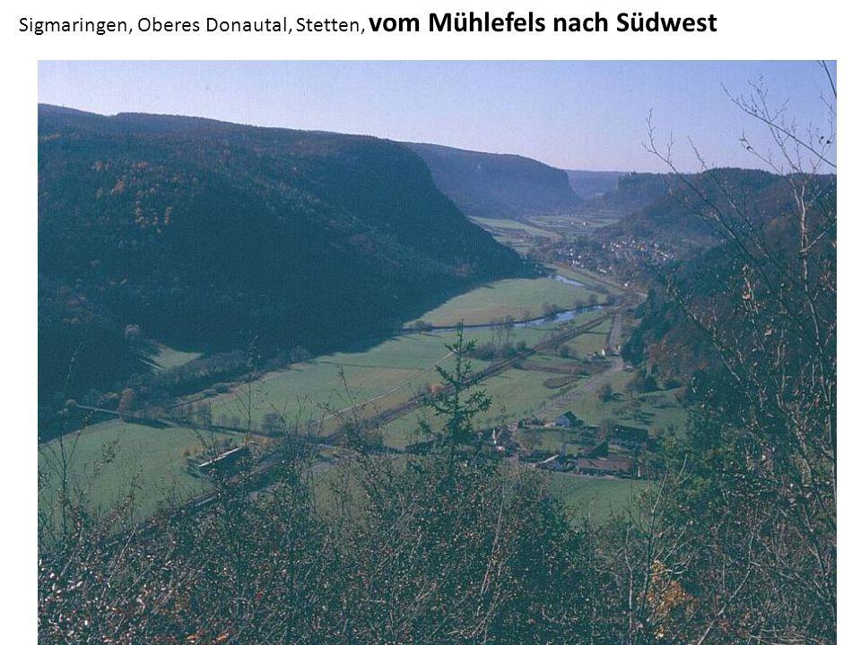 Sigmaringen, Oberes Donautal, Stetten, vom Mühlefels nach Südwest