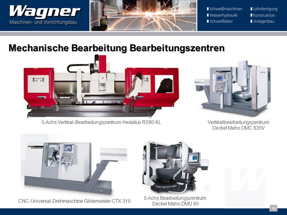 Mechanische Bearbeitung Bearbeitungszentren 5-Achs Vertikal-Bearbeitungszentrum Hedelius RS80 KL 5-Achs Bearbeitungszentrum Deckel Maho DMU 60 CNC-Uni