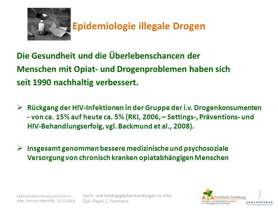 Epidemiologie illegale Drogen Die Gesundheit und die Überlebenschancen der Menschen mit Opiat- und Drogenproblemen haben sich seit 1990 nachhaltig ver