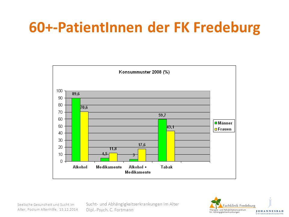 60+-PatientInnen der FK Fredeburg Seelische Gesundheit und Sucht im Alter, Podium Altenhilfe, 15.12.2014 Sucht- und Abhängigkeitserkrankungen im Alter
