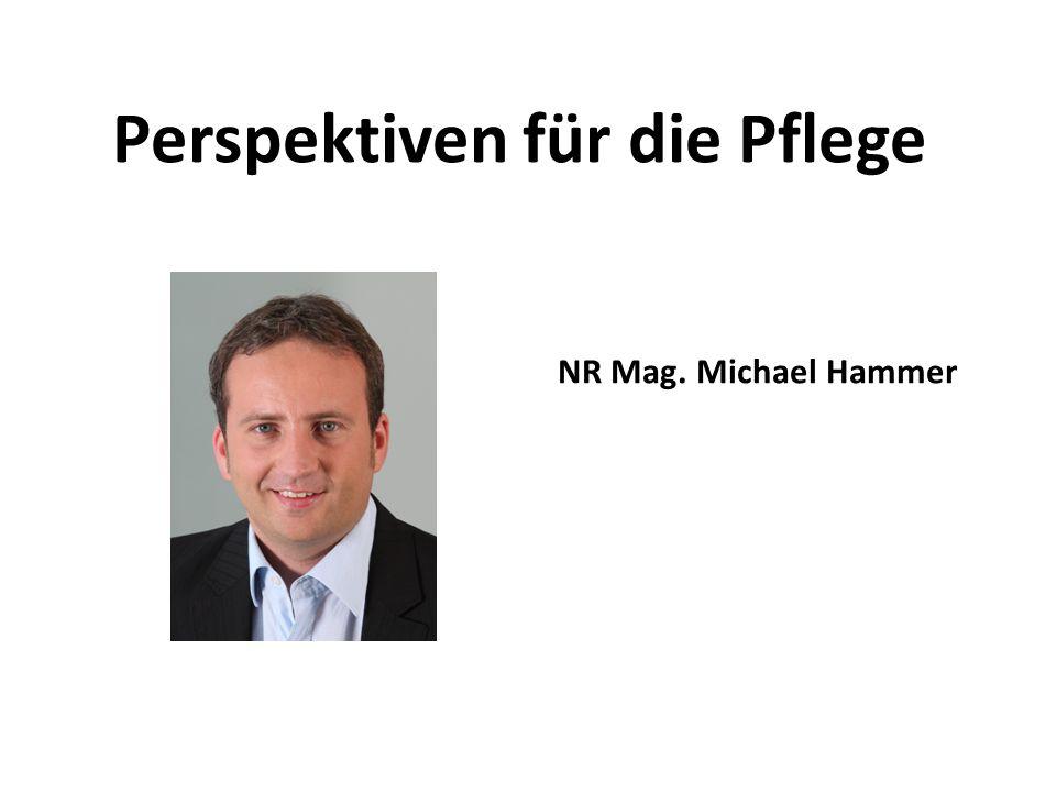 Perspektiven für die Pflege NR Mag. Michael Hammer