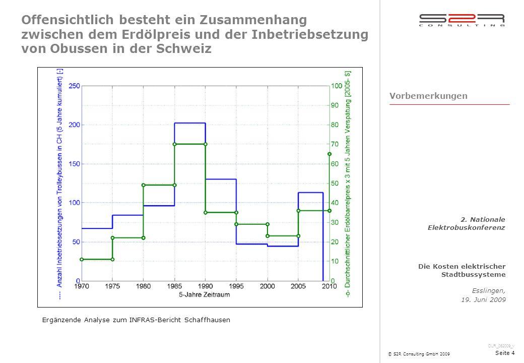 DLR_062009_v Die Kosten elektrischer Stadtbussysteme Esslingen, 19. Juni 2009 2. Nationale Elektrobuskonferenz © S2R Consulting GmbH 2009 Seite 4 Offe