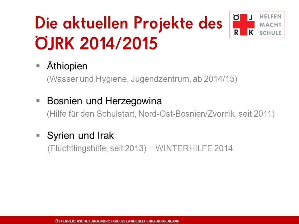  Äthiopien (Wasser und Hygiene, Jugendzentrum, ab 2014/15)  Bosnien und Herzegowina (Hilfe für den Schulstart, Nord-Ost-Bosnien/Zvornik, seit 2011)