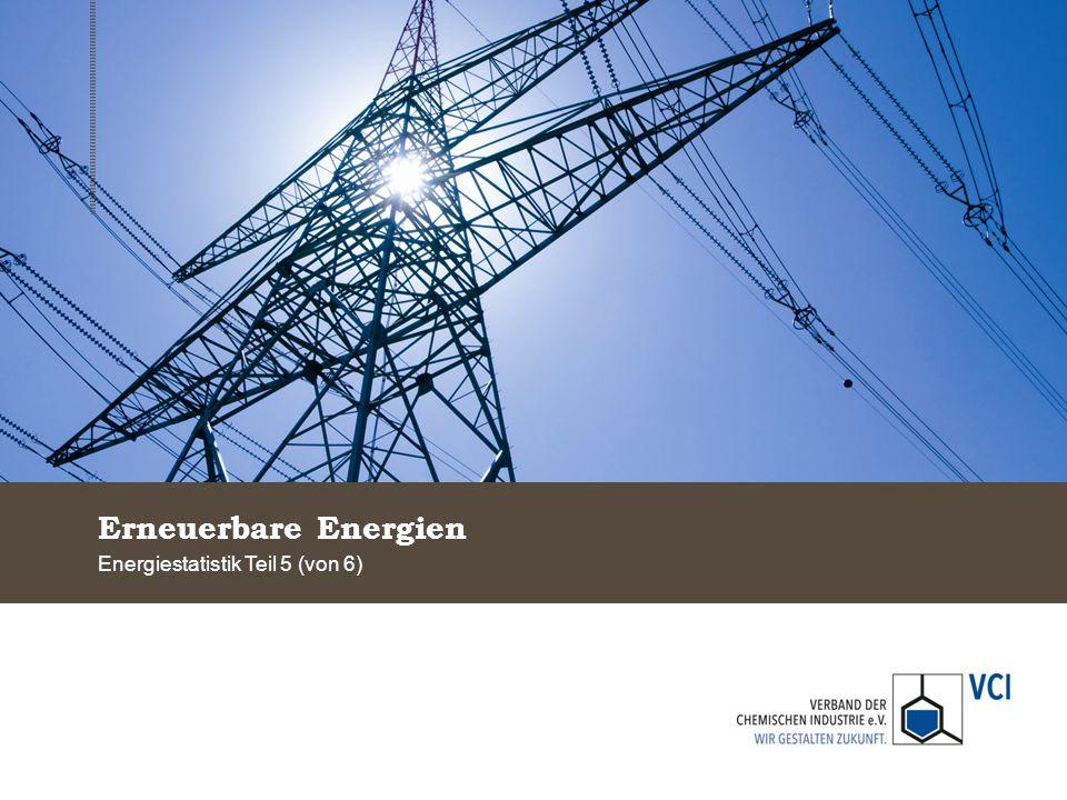 Erneuerbare Energien Energiestatistik Teil 5 (von 6)