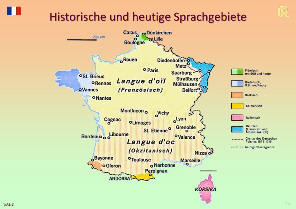 WAB © Historische und heutige Sprachgebiete 12