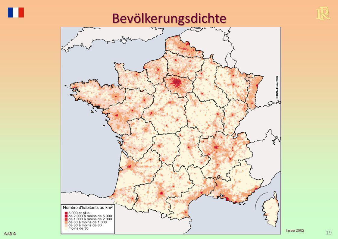 WAB © 19 Bevölkerungsdichte Insee 2002