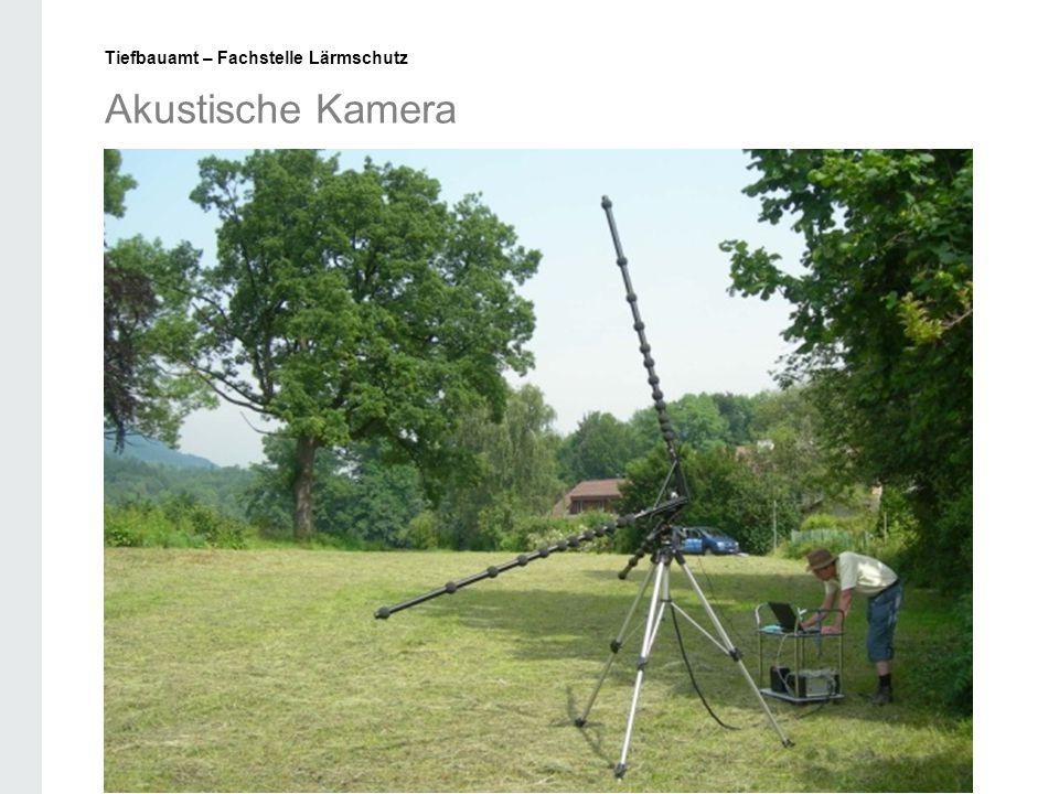 Akustische Kamera Tiefbauamt – Fachstelle Lärmschutz