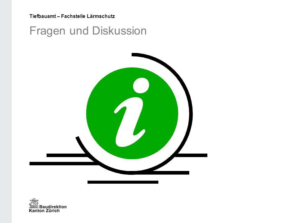Fragen und Diskussion Tiefbauamt – Fachstelle Lärmschutz