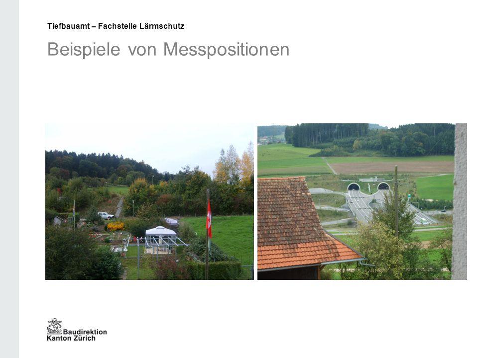 Beispiele von Messpositionen Tiefbauamt – Fachstelle Lärmschutz