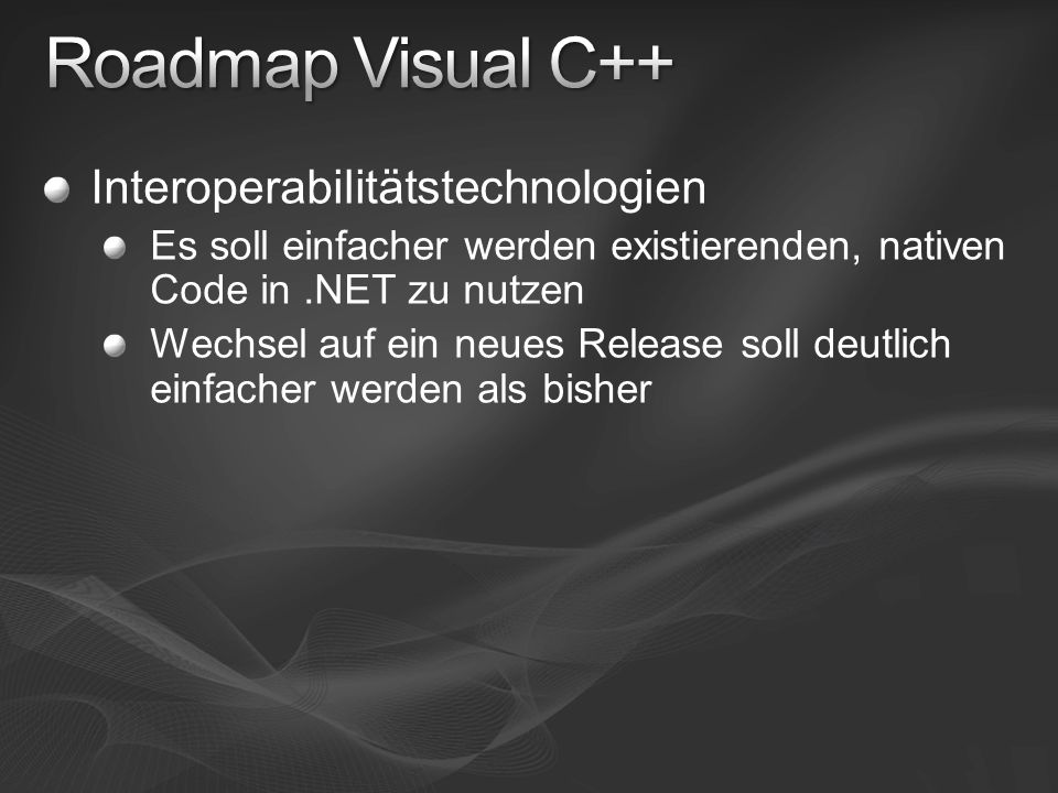 { Visual C++ 2008 Feature Pack }