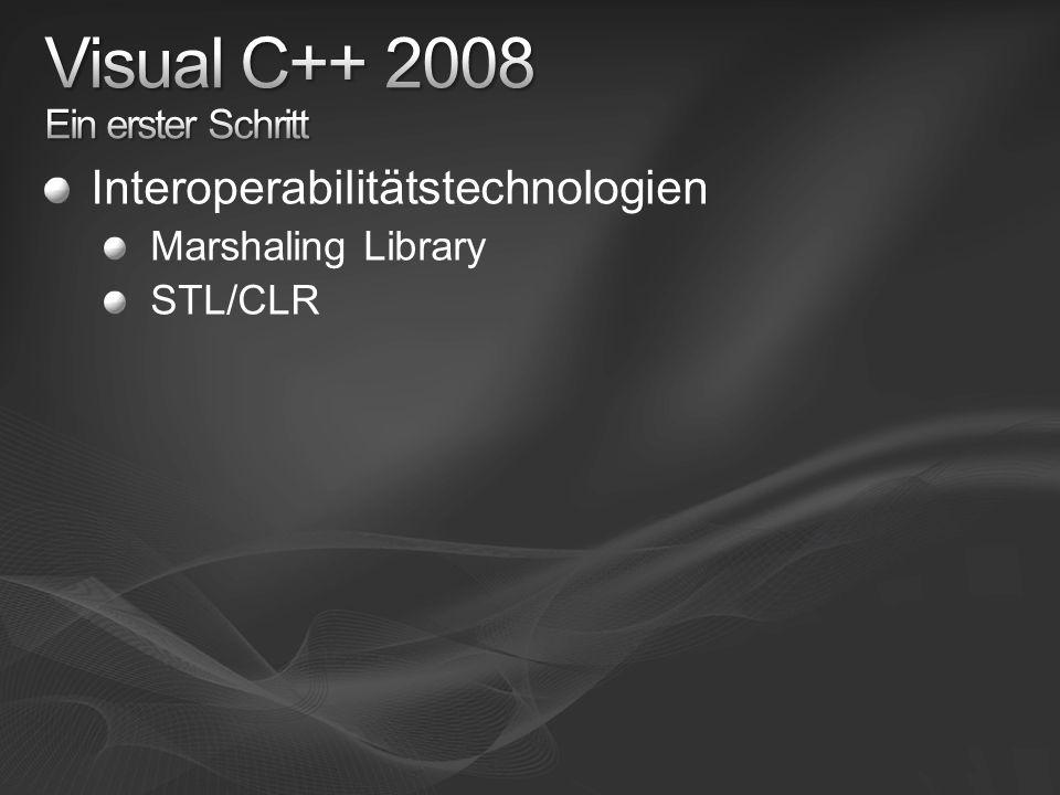 Interoperabilitätstechnologien Marshaling Library STL/CLR