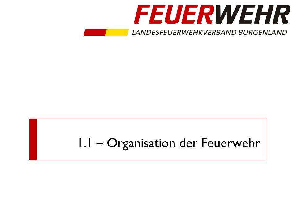 1.1 – Organisation der Feuerwehr